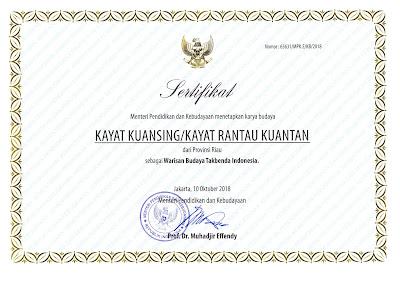 Warisan Budaya Tak Benda Riau 2018 Kayat Kuansing / Kayat Rantau Kuantan (Kuantan Singingi)