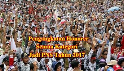 Inilah Jumlah Honorer Semua Kategori Yang Akan Diangkat Jadi PNS Tahun 2017