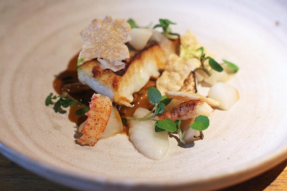 Fish dish at Rozbrat 20 Restaurant, Warsaw - travel & lifestyle blog