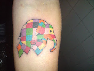 Elmer Tattoo - 10 Picture Book Tattoos