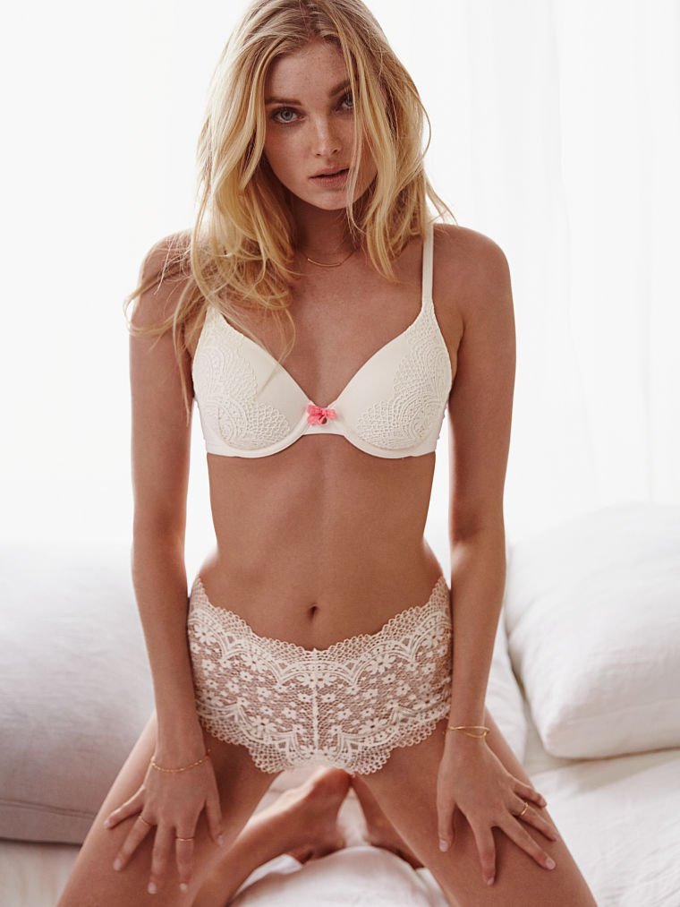 Elsa Hosk bares skin and curves for Victoria's Secret Lookbook