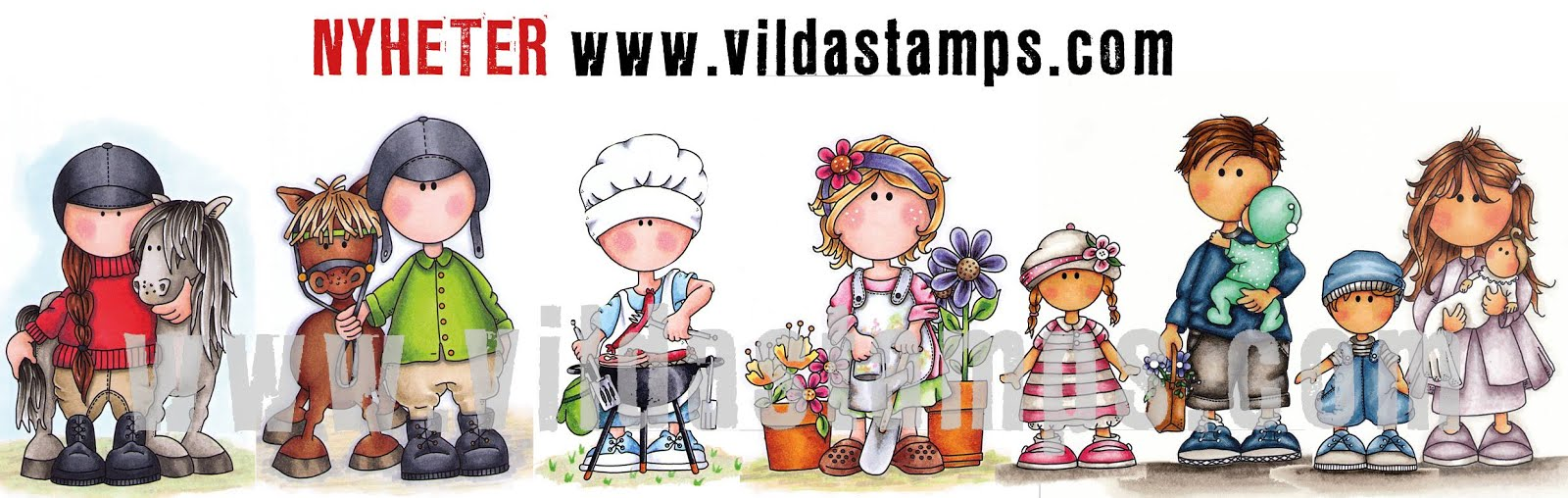 I design for: Vilda Stamps
