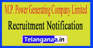M.P. Power Generating Company Limited MPPGCL Recruitment Notification 2017