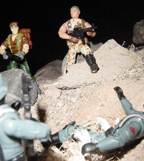 2004 Unproduced Caucasian Desert Patrol Stalker, TRU Exclusive, Midnight Chinese, Chinese Exclusive Flint, Tiger Force Falcon