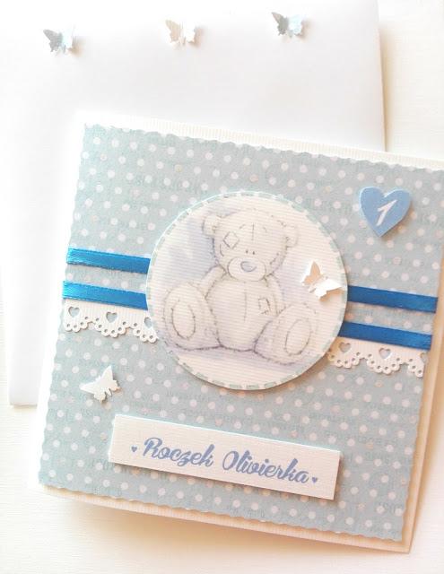 Kartka na Pierwsze Urodzinki Olivierka