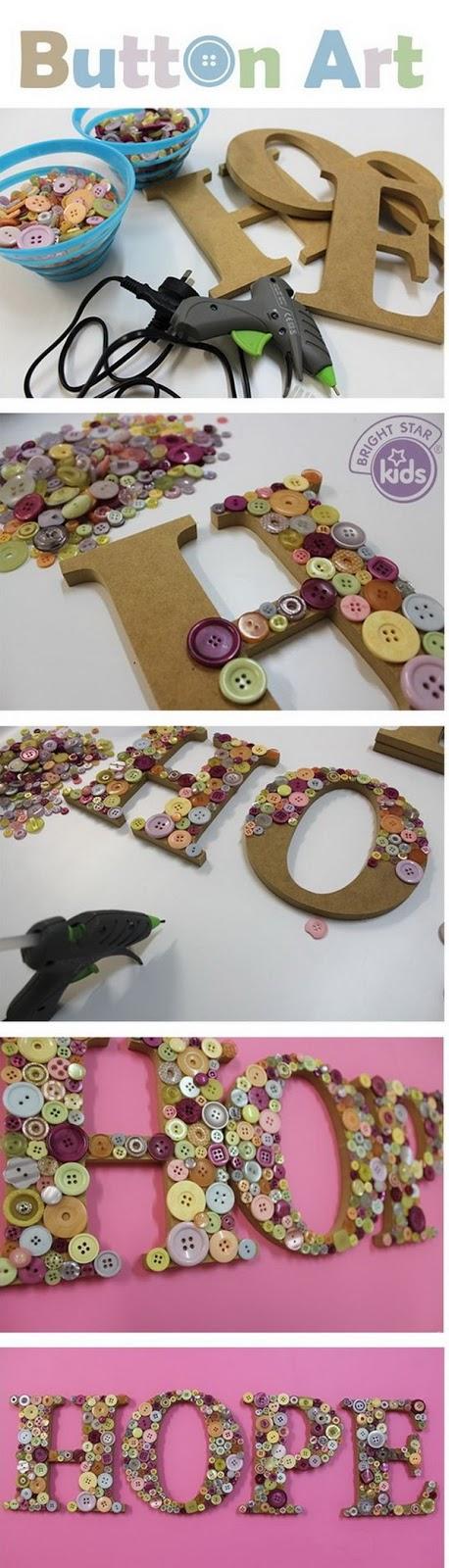 Aperfeiçoe a decoração de festa de aniversário, é muito simples de fazer e extremamente criativo! Veja como montar o alfabeto de botão.