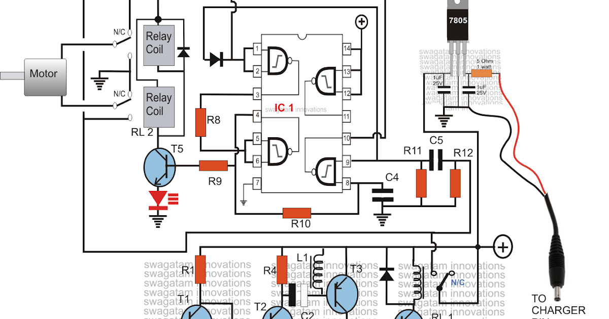 Controlling Motor with a Cell Phone Circuit Diagram