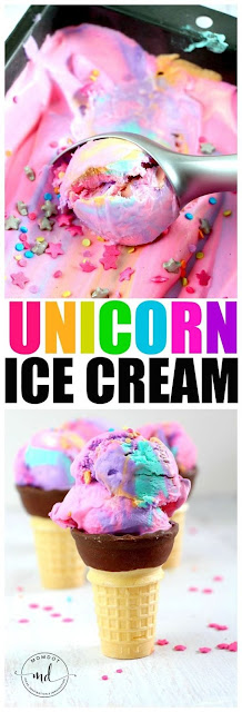 Homemade Ice Cream | Easy No Bag, No Churn Unicorn Cream
