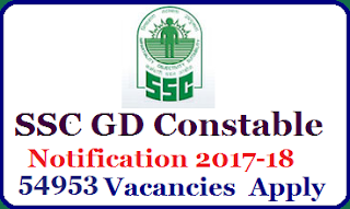 SSC GD Constable Online Form 2018