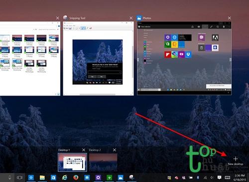 Sử dụng tính năng Virtual Desktop