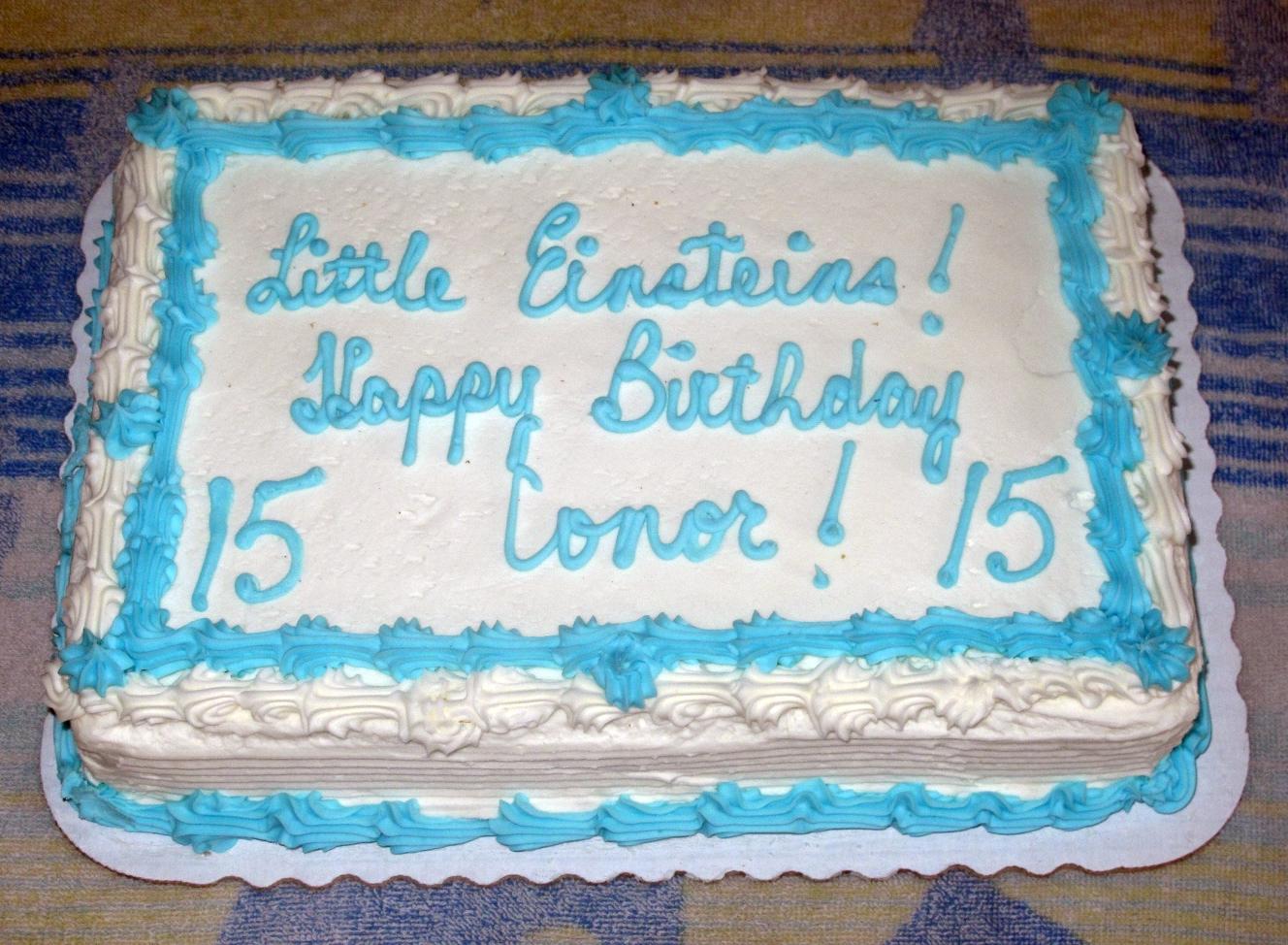 Conor Birthday Cake