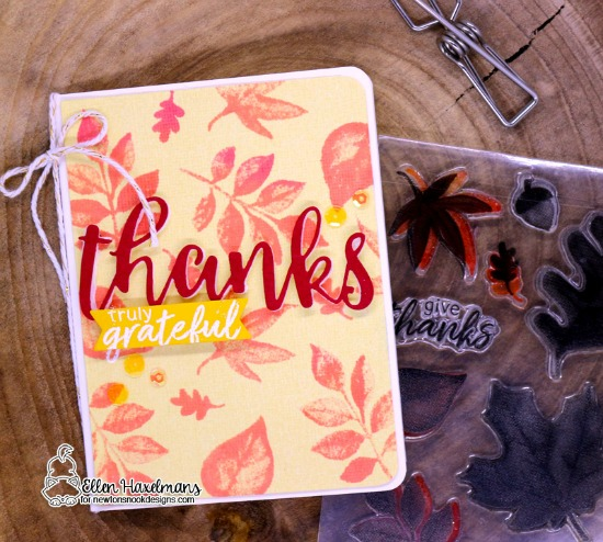 Monochromatic Cards by Ellen Haxelmans | Shades of Autumn Stamp Set by Newton's Nook Designs #newtonsnook #handmade