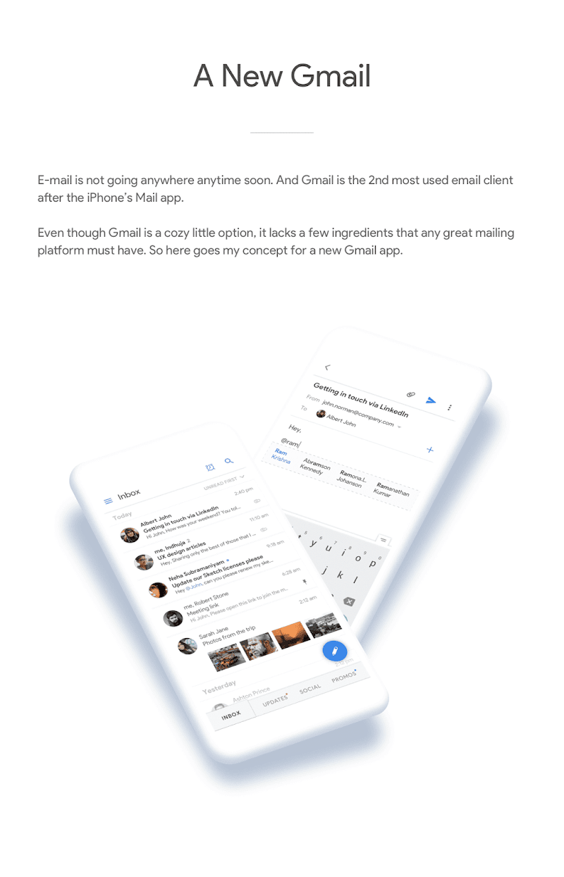 Re-imagining Gmail