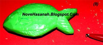 langkah-langkah cara membuat ukiran dari bahan sabun mandi batangan berbentuk ikan 8