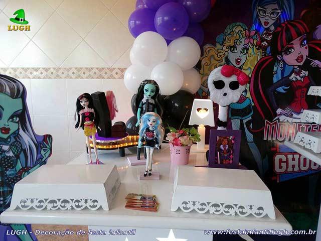 Decoração festa de aniversário Monster High - Mesa decorativa infantil