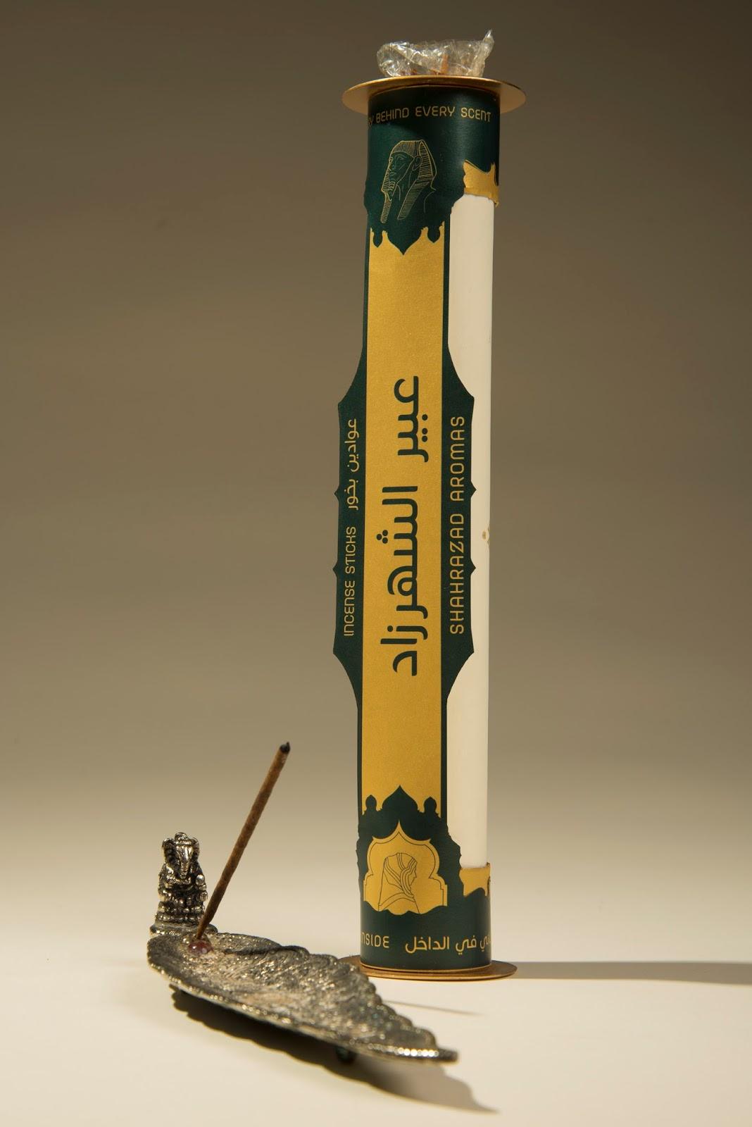 Shahrazad Aromas Incense Sticks - housewares' Labels Designed By Eric Collier