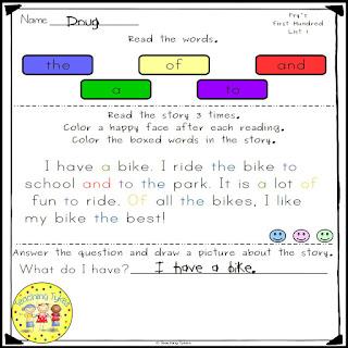 https://www.teacherspayteachers.com/Product/Sight-Words-Fluency-and-Word-Work-Frys-First-Hundred-2529447