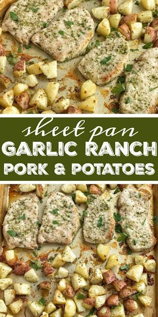 Sheet Pan Garlic Ranch Pork & Potatoes