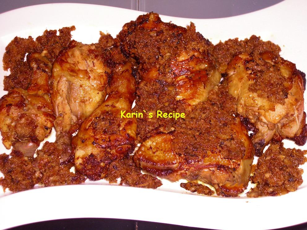 Karin's Recipe: Ayam Goreng Bumbu Lengkuas (Galangal Fried ...