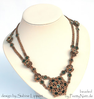 "Necklace ""Helena"" beaded by PrettyNett.de"
