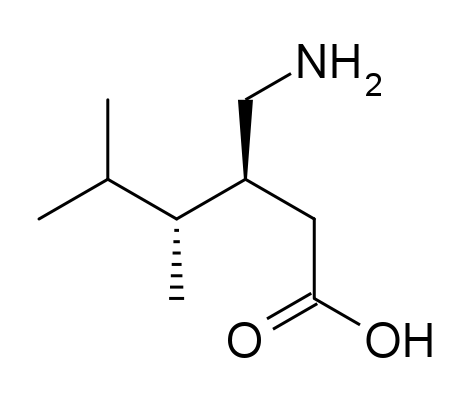 Pregabalin - Used to treat epilepsy, neuropathic pain