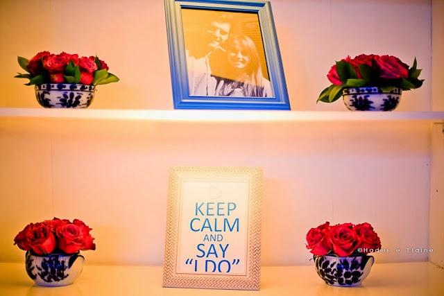 decoração - detalhes - porta retrato - foto no casamento - quadrinho fofo - keep calm - keep calm and say i do