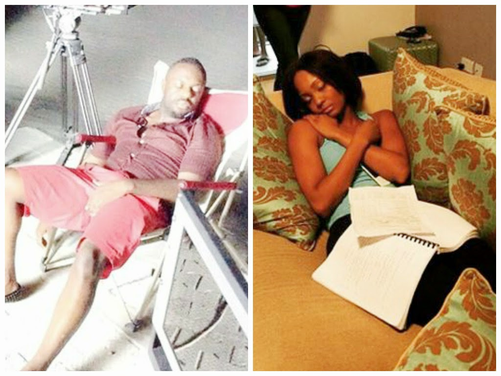 nollywood sleeping on duty