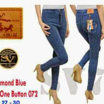 Celana Jeans Wanita, Celana Model Pinggang, Grosir Celana Jeans