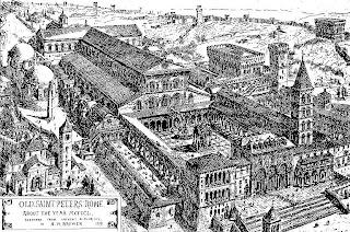 Desenho da antiga basílica de Constantino