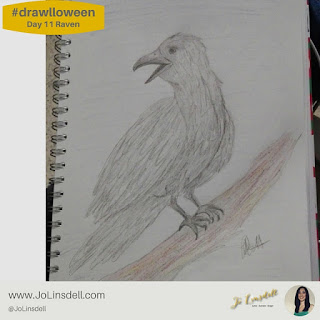 #Drawlloween Day 11 Raven #Drawing #challenge