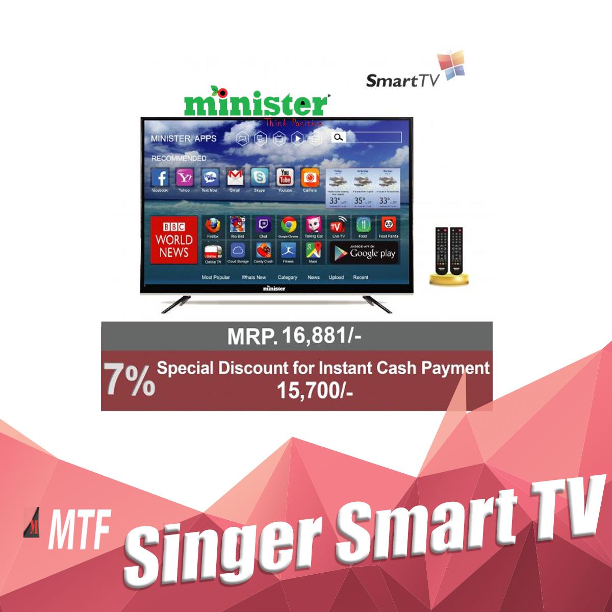 24 Internet Minister 24 Internet Glorious Led Tv Mtf
