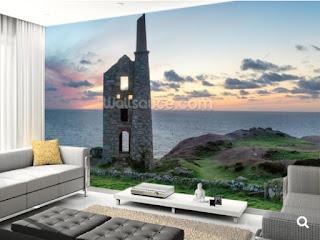 Poldark, Cornwall, Murals, Wallsauce