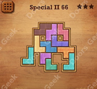 Cheats, Solutions, Walkthrough for Wood Block Puzzle Special II Level 66