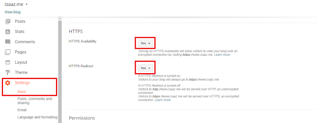 cara mensetting penggunaan https di blogger