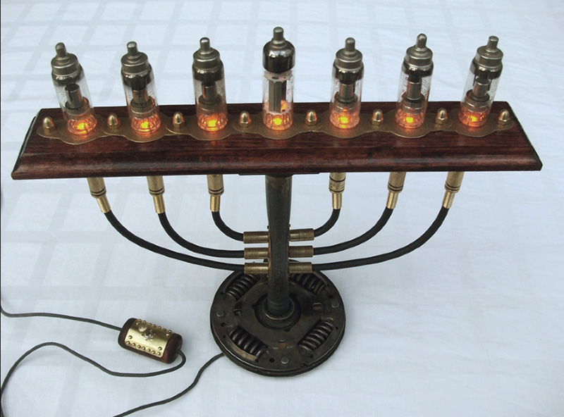 steampunk menorah