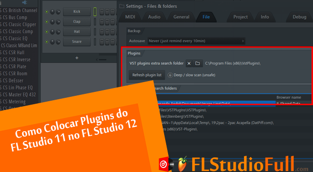 Como Colocar Plugins do FL Studio 11 no FL Studio 12