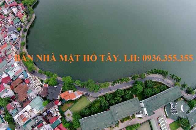 Bán nhà mặt đường kè Hồ Tây, phố Nguyễn Đình Thi