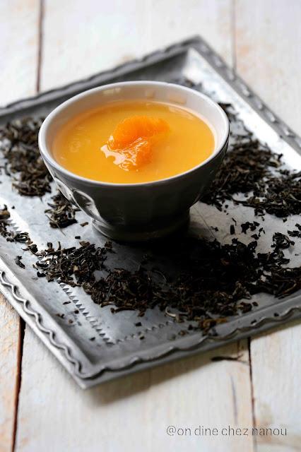 madarine posset , dessert facile , dessert rapide , agrumes , palais des thés , thé jasmin