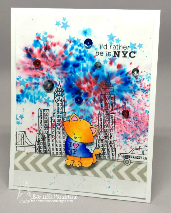 New York City Card by Danielle Pandeline | Newton Dreams of New York Stamp Set by Newton's Nook Designs #newtonsnook #newyork