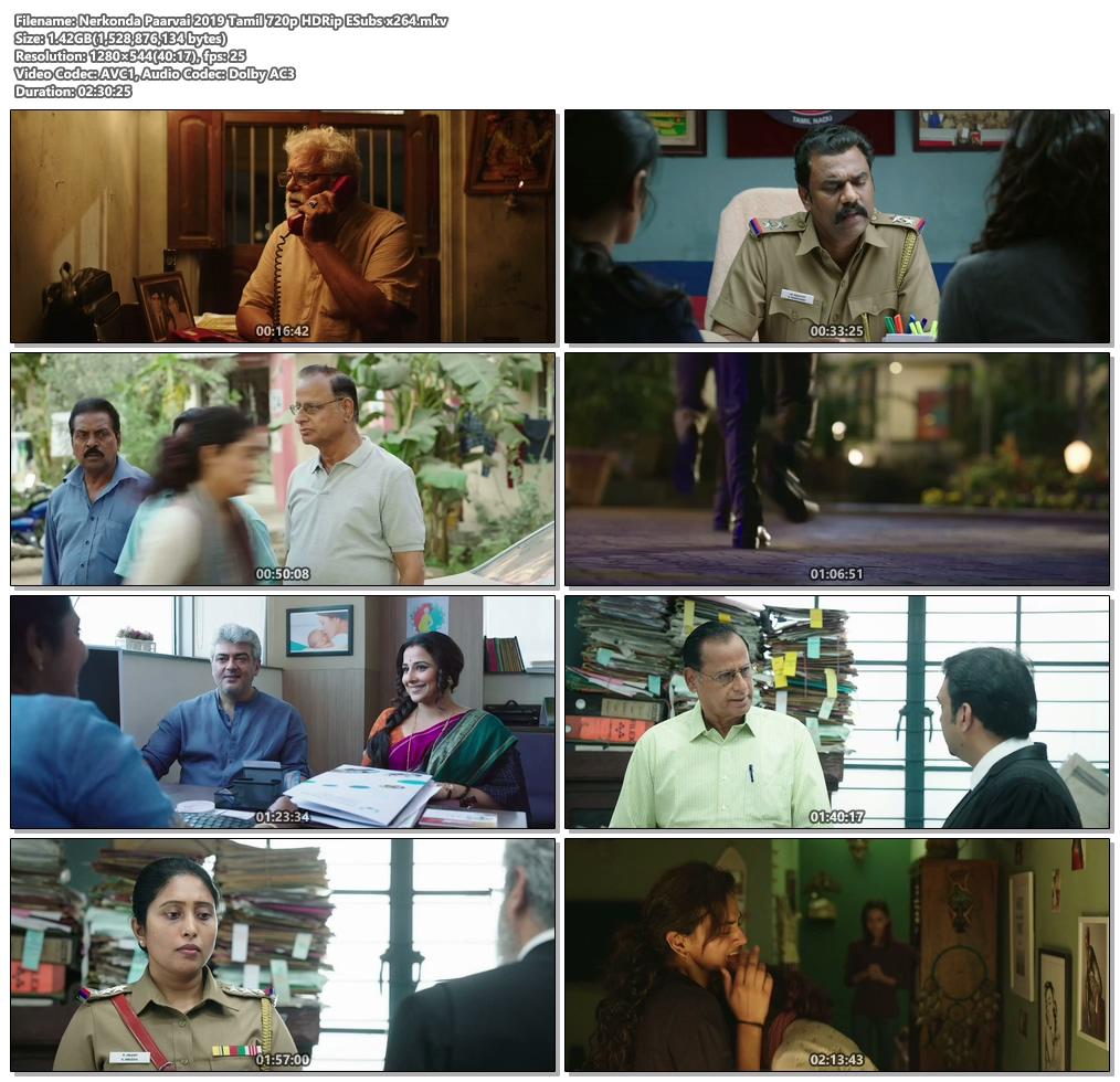 Nerkonda Paarvai 2019 Tamil 720p HDRip ESubs | 480p 300MB | 100MB HEVC Screenshot