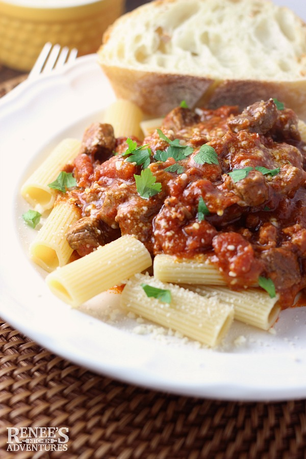 Slow Cooker Beef Italiano | Renee's Kitchen Adventures