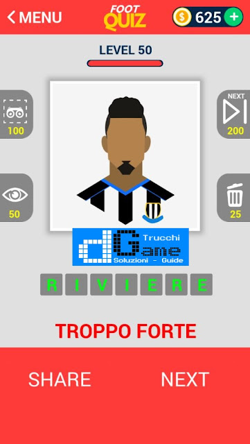 FootQuiz Calcio Quiz Football ( VISO) soluzione livello 41-50