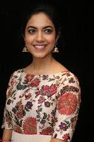 Ritu Varma smiling face Cream Anarkali dress at launch of OPPO New Selfie Camera F3 ~  Exclusive 044.JPG