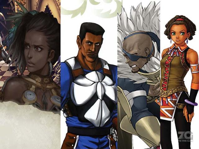 black jrpg characters