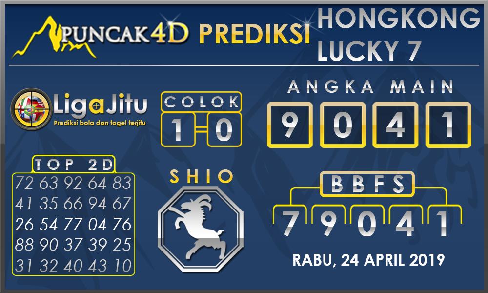 PREDIKSI TOGEL HONGKONG LUCKY7 PUNCAK4D 24 APRIL 2019