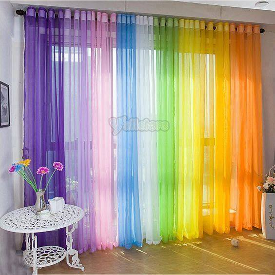 Kitchen Unit Curtains: 20 Stylish Colorful Window Curtains Designs