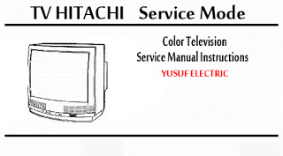 Service Mode TV HITACHI Berbagai Type _ Color Television Service Manual Instructions