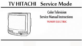 Service Mode TV HITACHI Berbagai Type