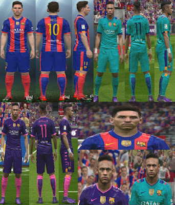 PES 2016 Barcelona Kit Pack 2017 by YastRin