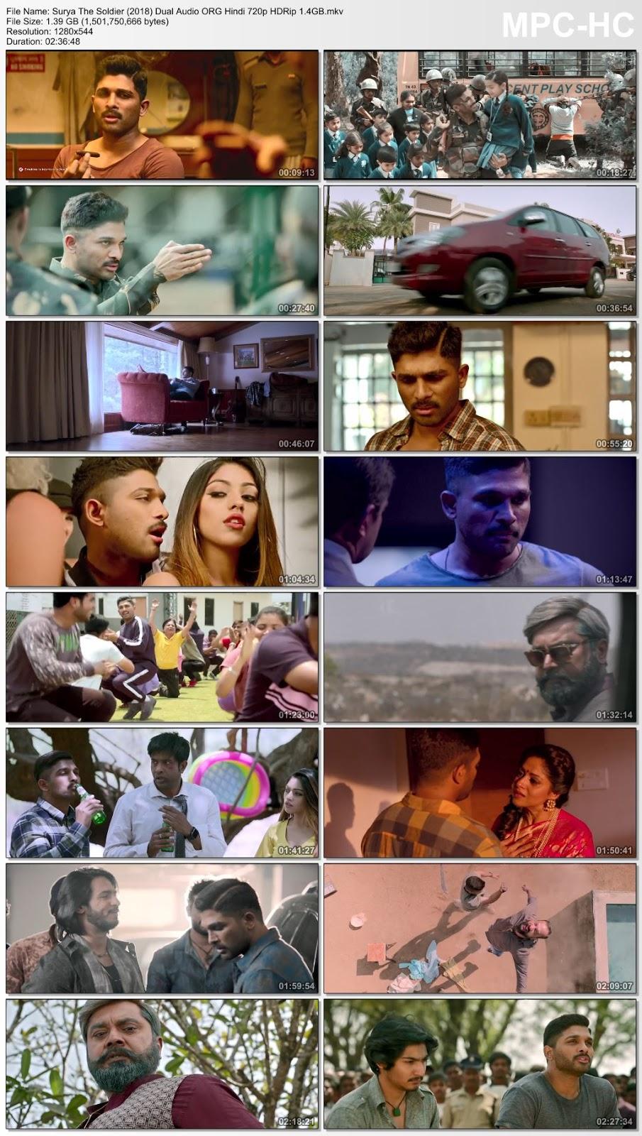 Surya The Soldier (2018) Dual Audio ORG Hindi 720p HDRip 1.4GB Desirehub